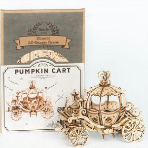 Pumpkin Cart - 3d model puzzle